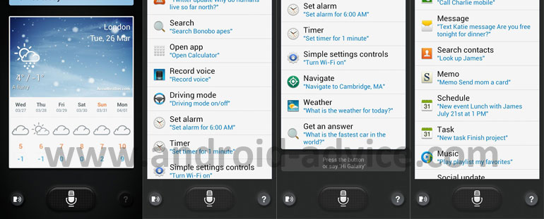 Samsung Galaxy S4 S-Voice APK Download Available - Android Advice